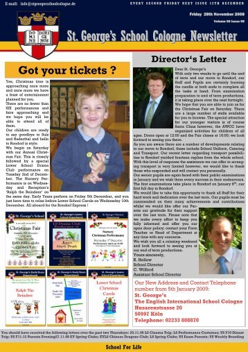 St. George's School Cologne Newsletter