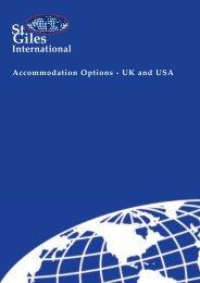 Accommodation Options - St Giles International
