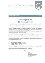 19de Wijnbeurs 16-19 maart 2012 - Saint-Gilles