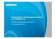Präsentation der WEMAG AG auf der 39. Verbandsversammlung
