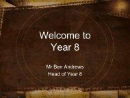 Year 8 Parent Information - St Hildas School