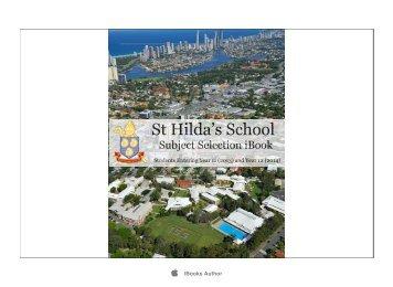 Subject Selection iBook - St Hildas School