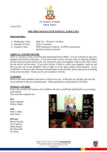 3 June 2013 PRE-PREP NEWSLETTER WEEK ... - St Hildas School