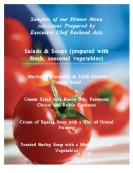 Salads & Soups (prepared with Salads & Soups (prepared with fresh ...