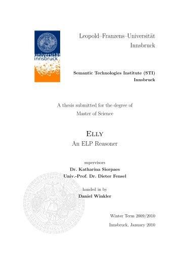ELLY – An ELP Reasoner - STI Innsbruck