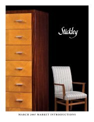 MARCH 2007 MARKET INTRODUCTIONS - Stickley