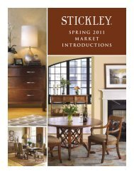 SPRING 2011 MARKET INTRODUCTIONS - Stickley