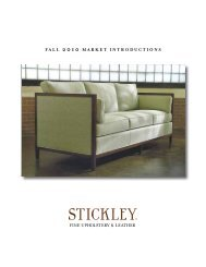 FALL 2010 MARKET INTRODUCTIONS Fine Upholstery ... - Stickley