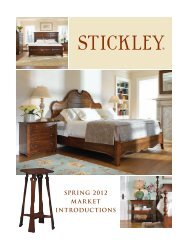 SPRING 2012 MARKET INTRODUCTIONS - Stickley