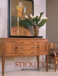 the perfect balance for today's lifestyle - Stickley