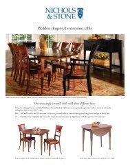 Walden drop-leaf extension table - Stickley
