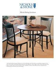 Metal dining furniture - Stickley