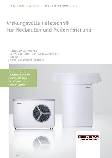 Wirkungsvolle Heiztechnik für Neubauten und ... - Stiebel Eltron