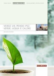 VERSO UN MONDO PIÙ VERDE: ACQUA E CALORE - Stiebel Eltron