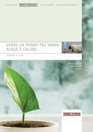 VERSO uN MONDO PIù VERDE: ACquA E CALORE. - Stiebel Eltron