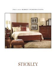 FALL 2010 MARKET INTRODUCTIONS - Stickley