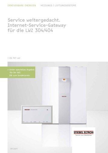 Service weitergedacht. Internet-Service-Gateway für ... - Stiebel Eltron