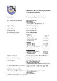 Ausschreibung Erschließung Baugebiet Haldenacker - Stiefenhofen