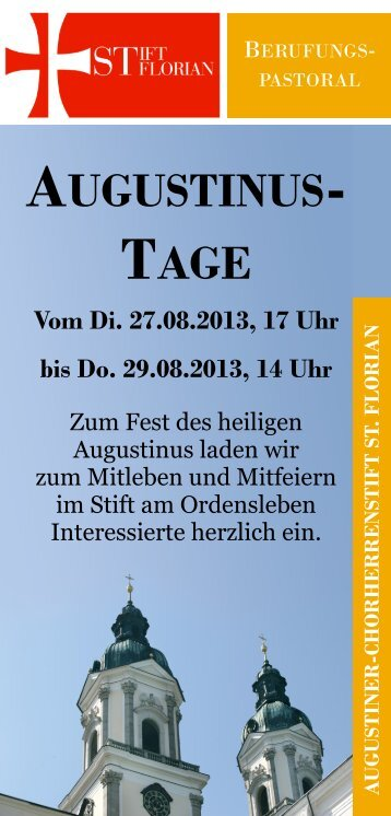 AUGUSTINUS- TAGE - Stift St. Florian