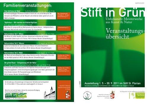 Veranstaltungs- übersicht - Stift St. Florian