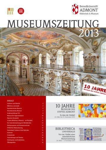 Museumszeitung 2013 - Stift Admont