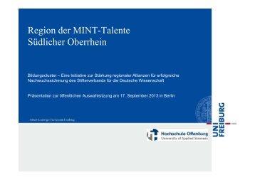 Region der MINT-Talente - Stifterverband für die Deutsche ...