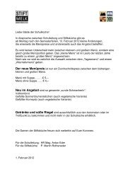 Nähere Informationen - Stiftsgymnasium Melk