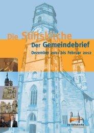 Gottesdienste - Stiftskirche Stuttgart