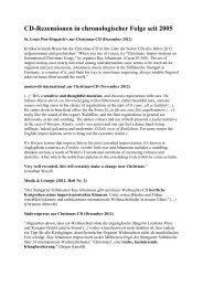 Rezensionen CDs Kay Johannsen - Stiftskirche Stuttgart