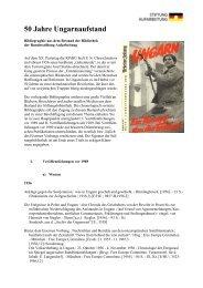 Ungarn 1956 [200 KB] - Bundesstiftung zur Aufarbeitung der SED ...