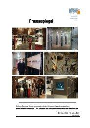 Berichterstattung in der Presse - Stiftung Denkmal für die ...