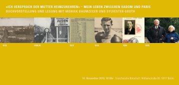 Einladung Buchvorstellung Moniek Baumzecer 14 11 2013 - Stiftung ...