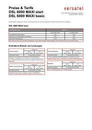 Preise & Tarife DSL 6000 MAXI start DSL 6000 MAXI basic - BORnet