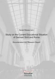 Study on the Current Educational Situation of German Sinti and Roma