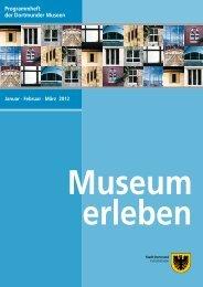 Programmheft der Dortmunder Museen - Stiftung