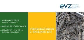 """Veranstaltungskalender 2013/2 - Stiftung """"Erinnerung ..."""