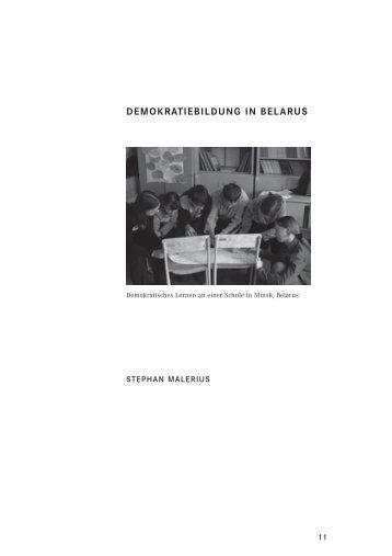 """Länderstudie Belarus - Stiftung """"Erinnerung, Verantwortung und ..."""