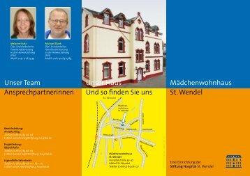 Flyer Mädchenwohnhaus - Stiftung Hospital