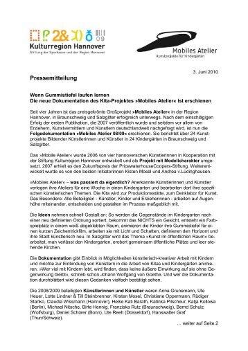 PM Dokumentation Mobiles Atelier 2010_k - Stiftung Kulturregion ...
