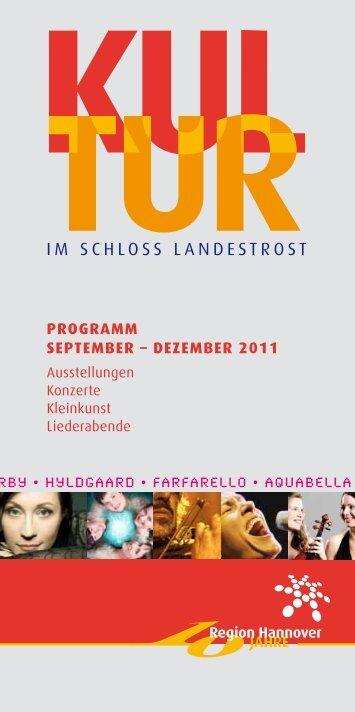 IM SCHLOSS LANDESTROST - Stiftung Kulturregion Hannover