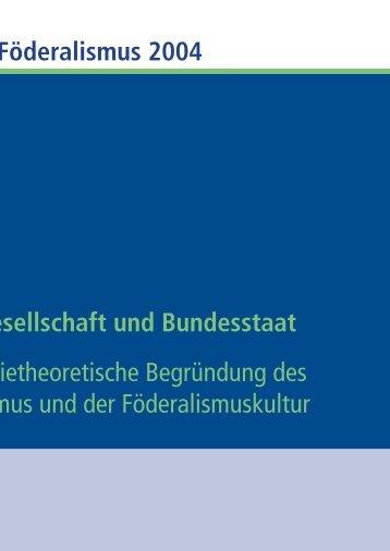 Bürgergesellschaft und Bundesstaat - Bertelsmann Stiftung