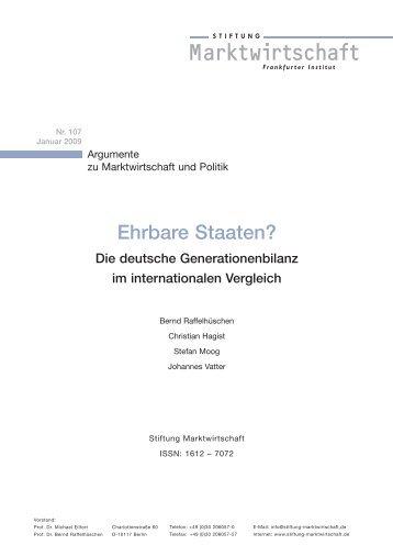 Studie Nr. 107 - Stiftung Marktwirtschaft