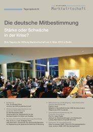 Die deutsche Mitbestimmung - Stiftung Marktwirtschaft