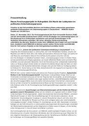Presseinfo Nov. 13: Forschungsprojekt - Stiftung Mercator