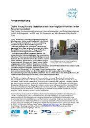 Presseinfo September 10: Sondernutzung - Stiftung Mercator