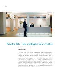 Mercator 2013 – Ideen beflügeln, Ziele erreichen - Stiftung Mercator