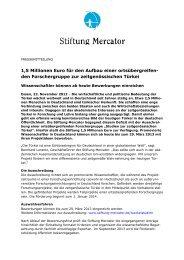 Presseinfo Nov 12: Ausschreibung - Stiftung Mercator