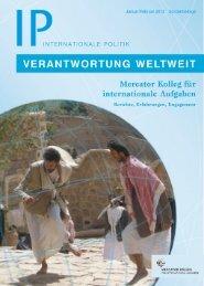 Sonderbeilage Internationale Politik - Stiftung Mercator