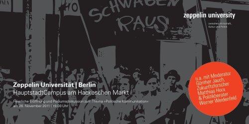 Zeppelin Universität | Berlin HauptstadtCampus ... - Stiftung Mercator