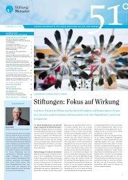 Wirkung von Stiftungen - Stiftung Mercator